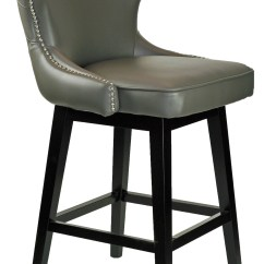 Bar Stool Chair Grey Hydraulic Gaming Stools And Kitchen Counter R 8707 Leather