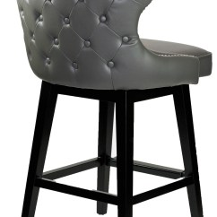 Bar Stool Chair Grey Dining Covers Velvet Stools And Kitchen Counter R 8707 Leather
