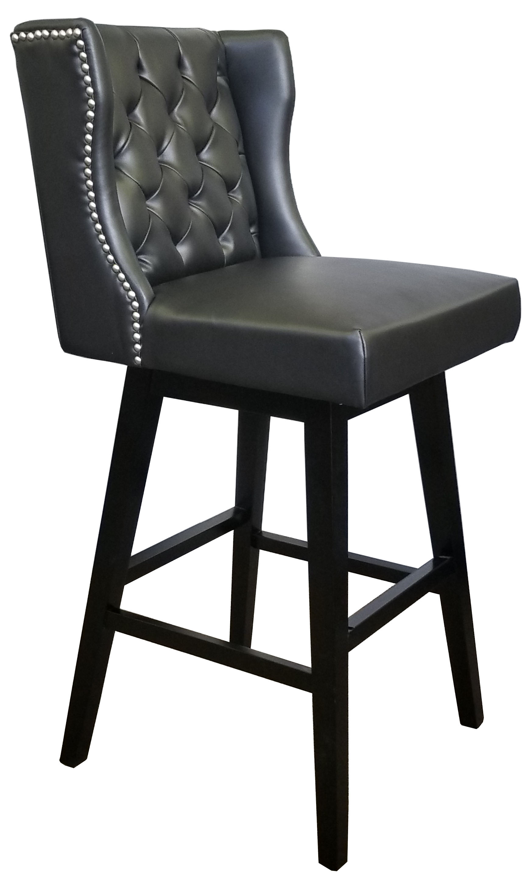 Bar Stools  Kitchen Counter Stools  R1553 Black Swivel