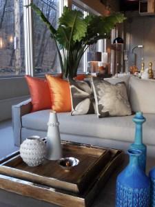 The Duke, Verellen, custom silk pillows, Archival Decor Pillows, Airedelsur Trays, Lesley Anton vase