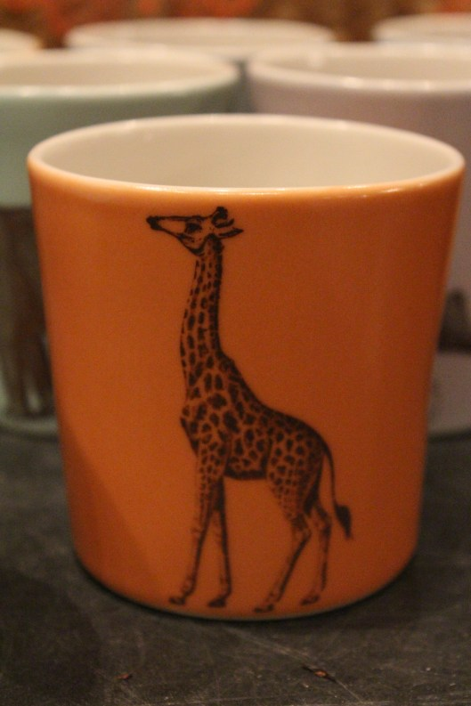 what's could be better than a giraffe on tangerine?  hot cocoa anyone?  - idea - great toothbrush holder