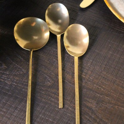 hand made brass serving pieces