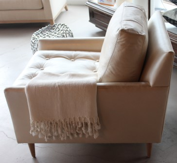 blanche club chair in nottinghill metallic leather
