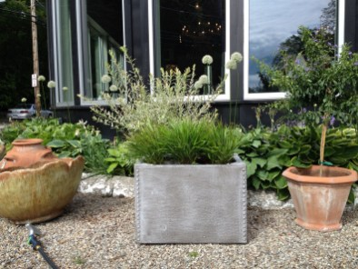 riveted rectangle - cast from an original water tank for the roofs of ny....great for herbs, grasses, lettuce ...