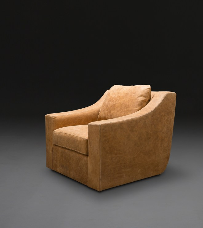 Clarence Club Swivel Chair - just the right arms for reading, lounging