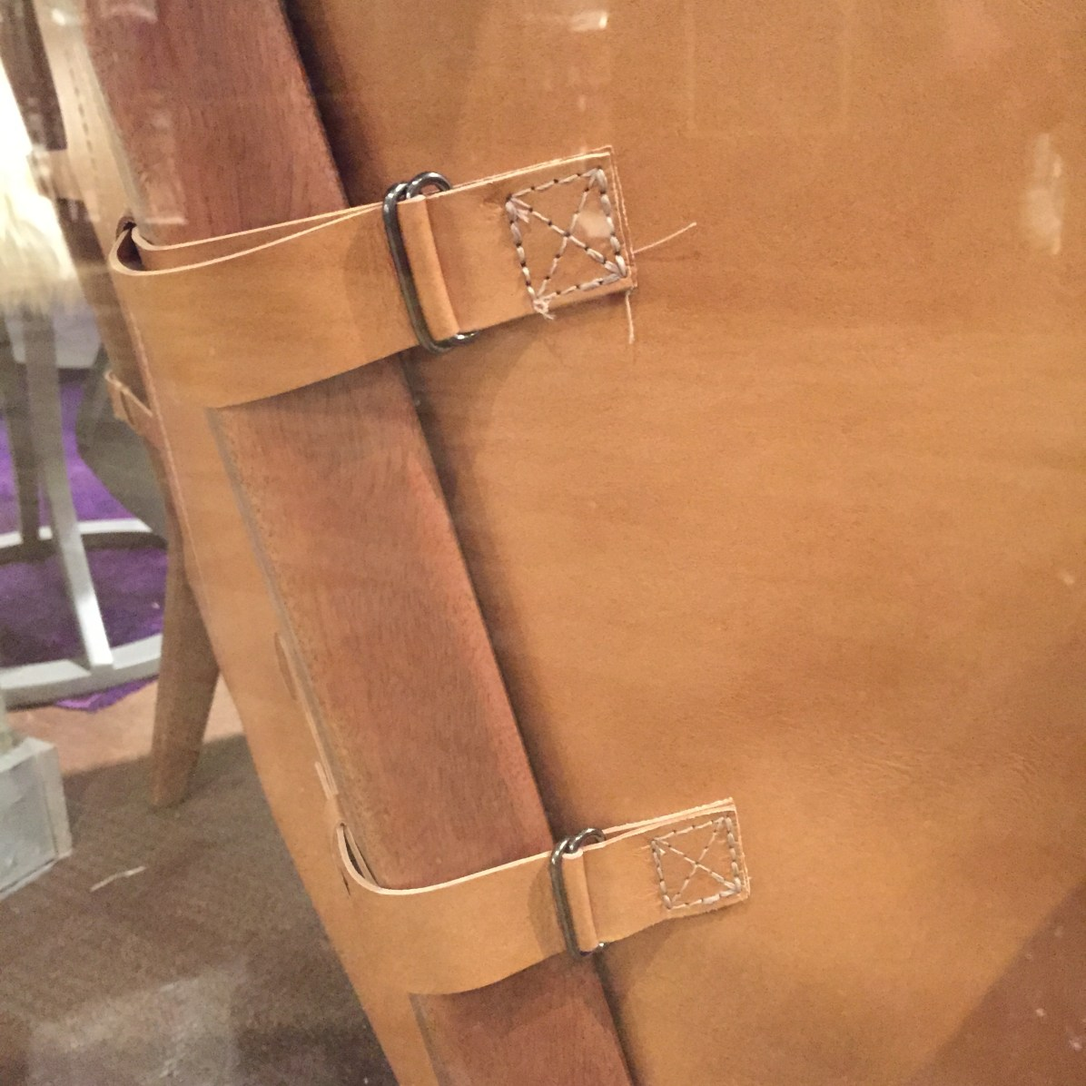 leather chair detail
