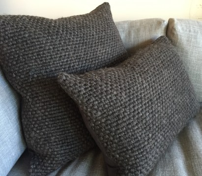 alpaca charcoal woven pillows
