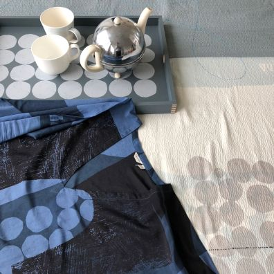 pw textile + tray blue grey silver