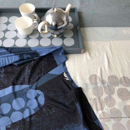pw textile + tray blue grey silver