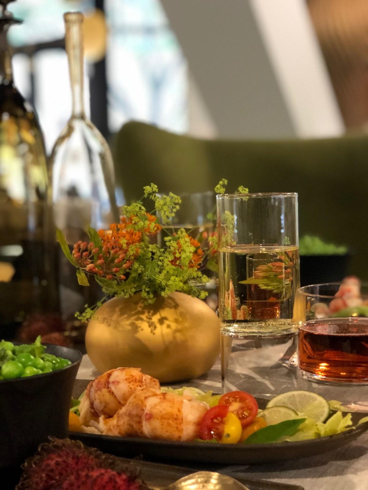 artefact-summer dinner soiree-ginger lobster salad