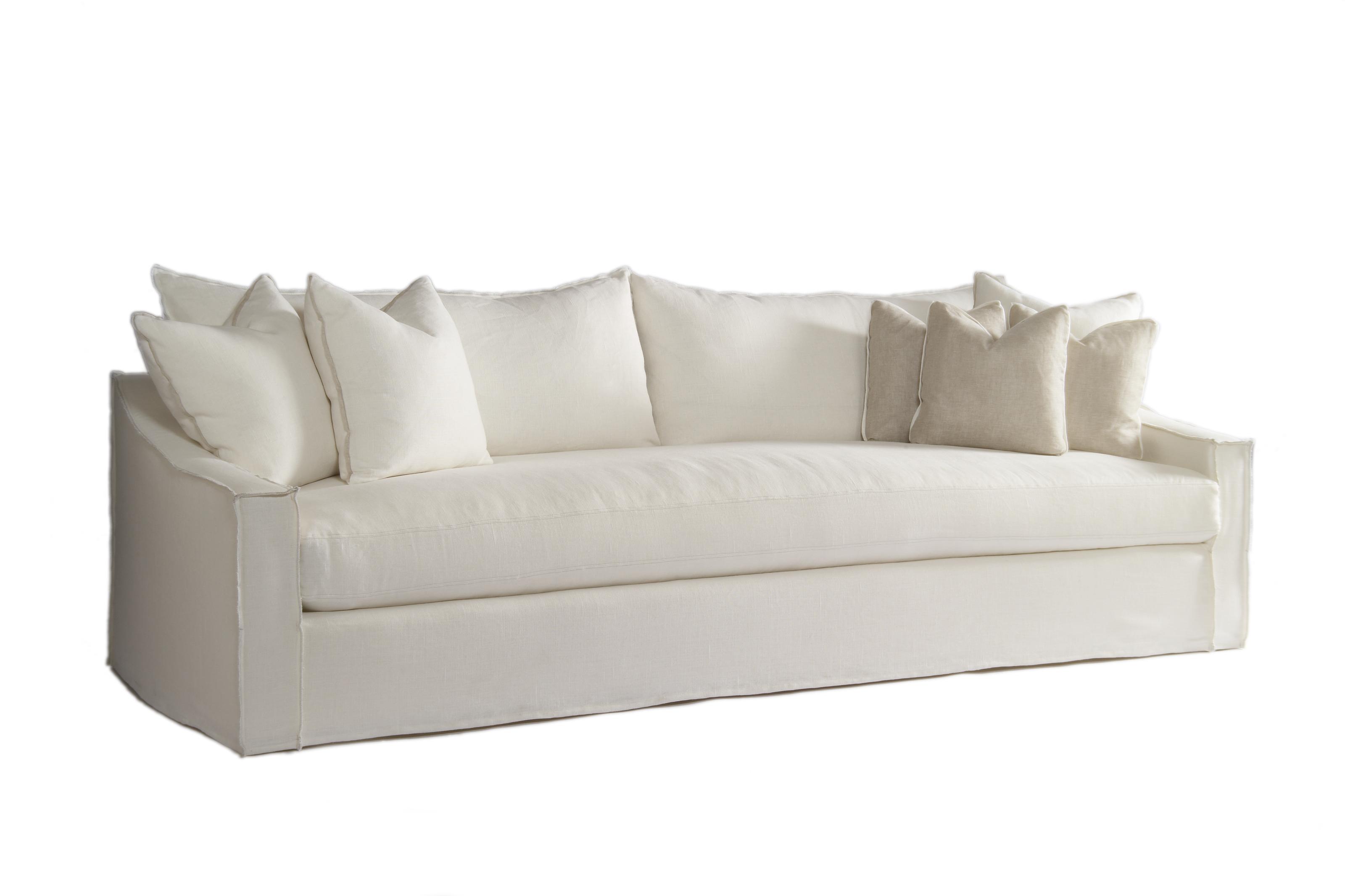 linen slipcovered sofa for small living room design absolutely verellen  artefact home garden