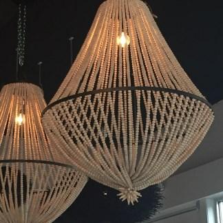 natural wood beaded light