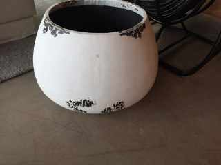 planter or vessel with vintage accents - med size (1)