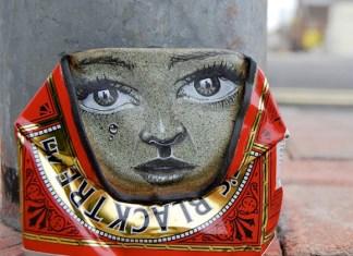arte callejero latas