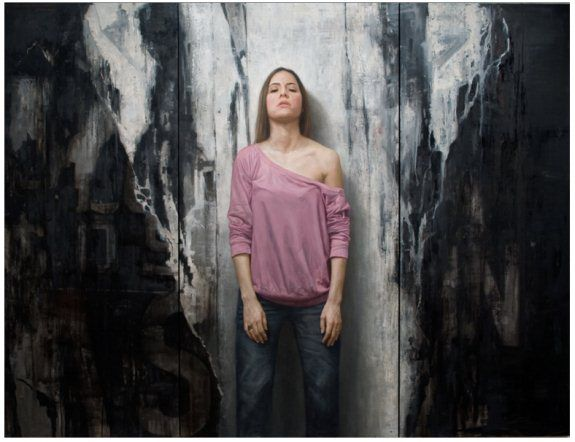 Balance-Oil-on-wood-panel-painting-by-David-Jon-Kassan-575x442