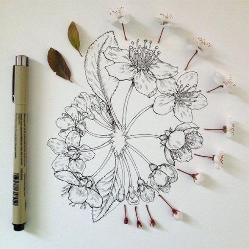 dibujos de flores  5
