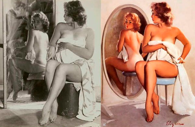 photoshop antiguo pin up 1