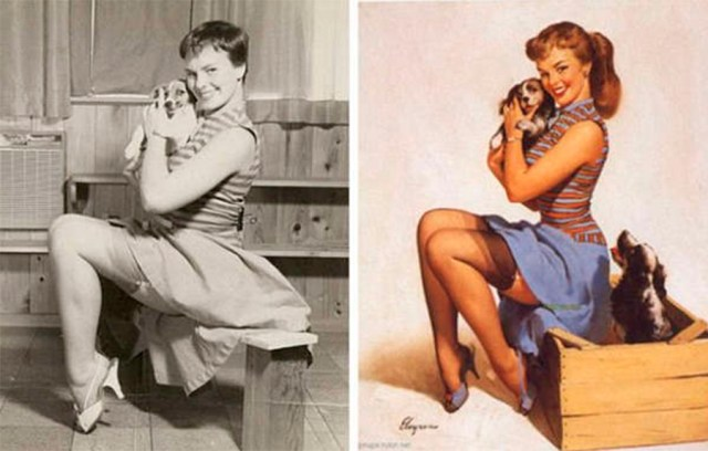 photoshop antiguo pin up 3
