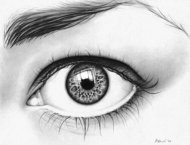 dibujos de ojos realistas 12 tigre