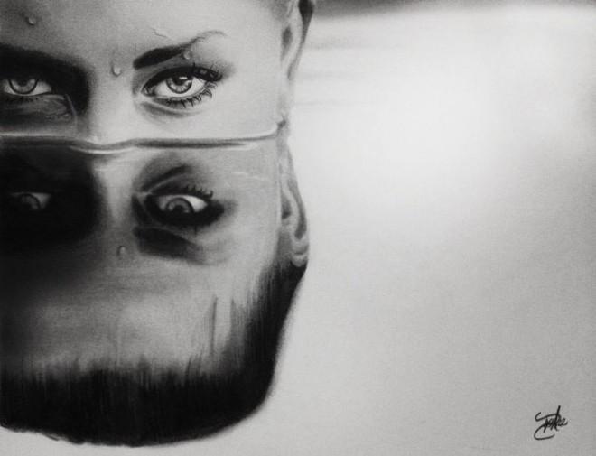 dibujos de ojos realistas 19