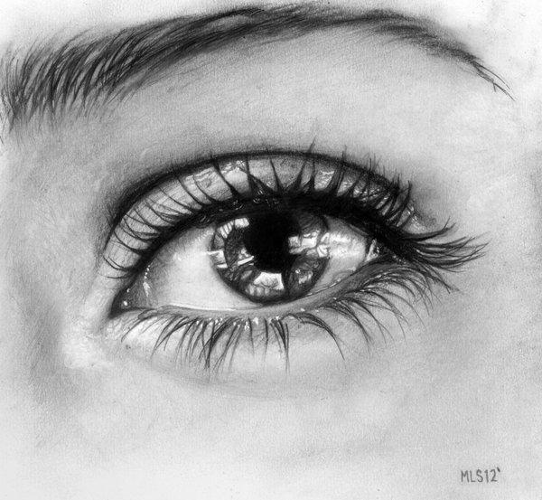 dibujos de ojos realistas 3