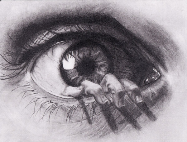 dibujos de ojos realistas  6