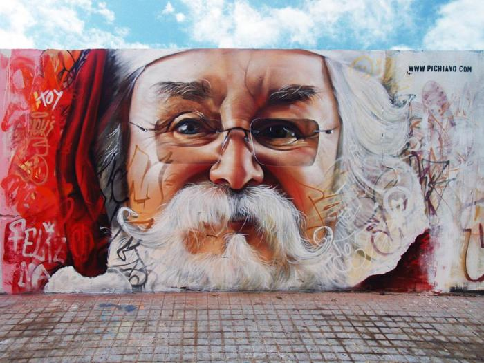 Santa claus graffiti 1