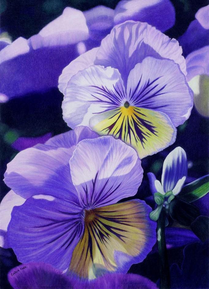 flores realistas a color