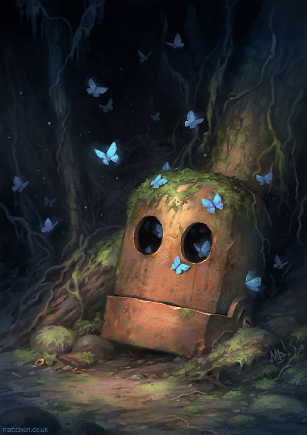 solitaria-vida-robot-ilustraciones-matt-dixon 5