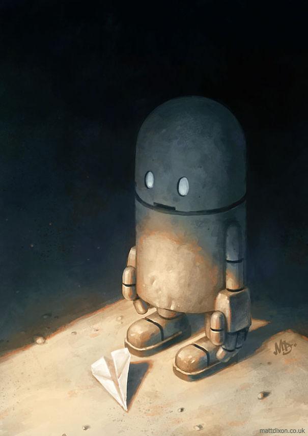 solitaria-vida-robot-ilustraciones-matt-dixon 7