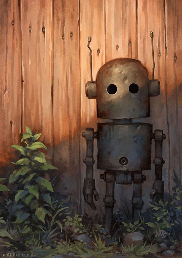 solitaria-vida-robot-ilustraciones-matt-dixon 8