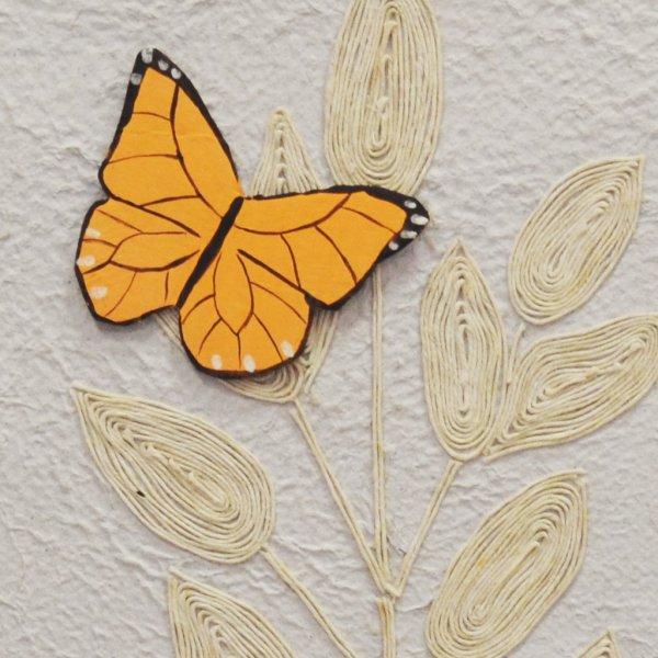 Quadretto farfalle arancioni · Arte Green