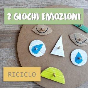 2 Giochi emozioni riciclo – istruzioni e forme da scaricare