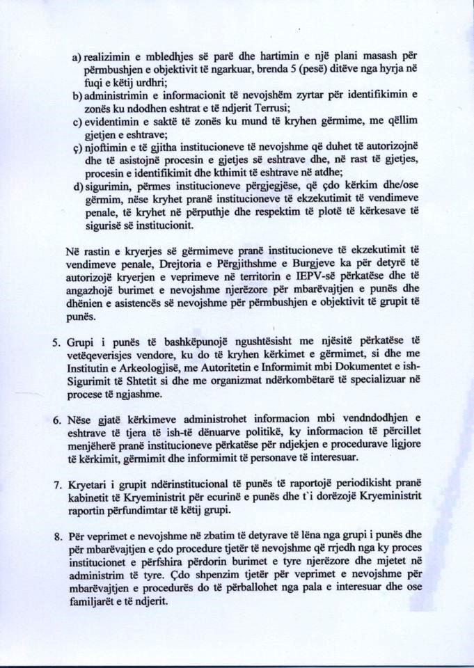 Urdhri i Rames per kerkimet e eshtrave te Giuseppe Terrusit (3)