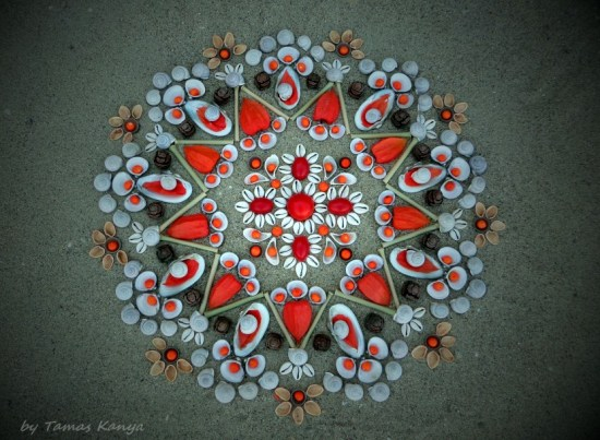 Land Art Mandala by Tamas Kanya