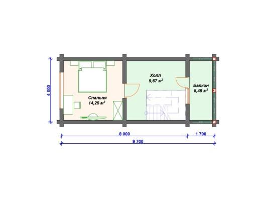 Деревянный дом 8х11 ДО-021