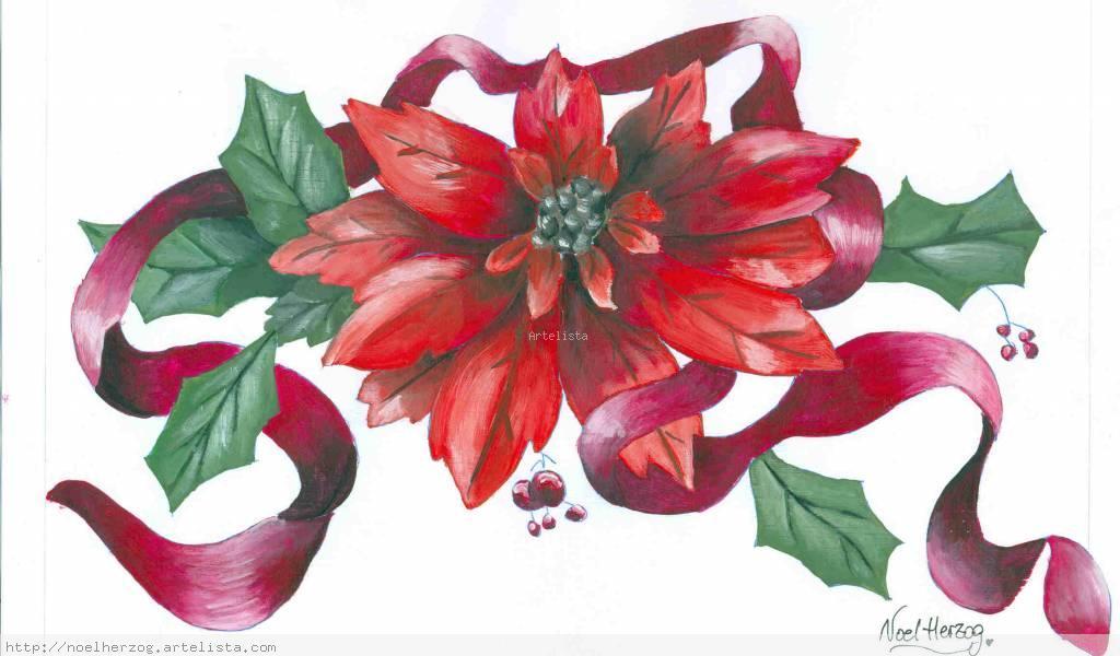 flor navidea Noel Herzog  Artelistacom  en