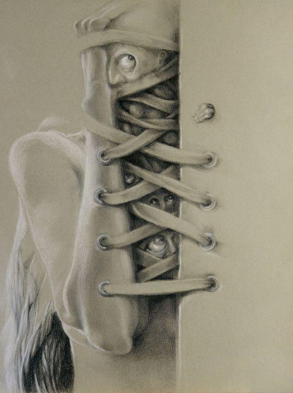 Shoelace Drawing : shoelace, drawing, Shoelace, Graszka, Paulska, Artelista.com
