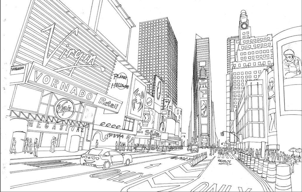 Perspectiva Time Square Pablo Eliseo Perez argueta