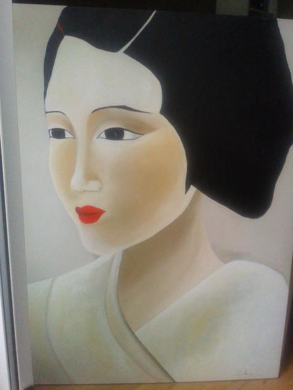 Geisha Malvorlage