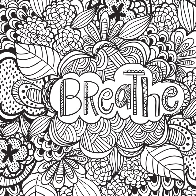 Stress Relief Printable Coloring Pages for Adults