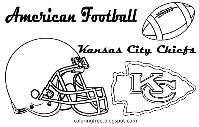 Free Printable Kansas City Chiefs Coloring Pages
