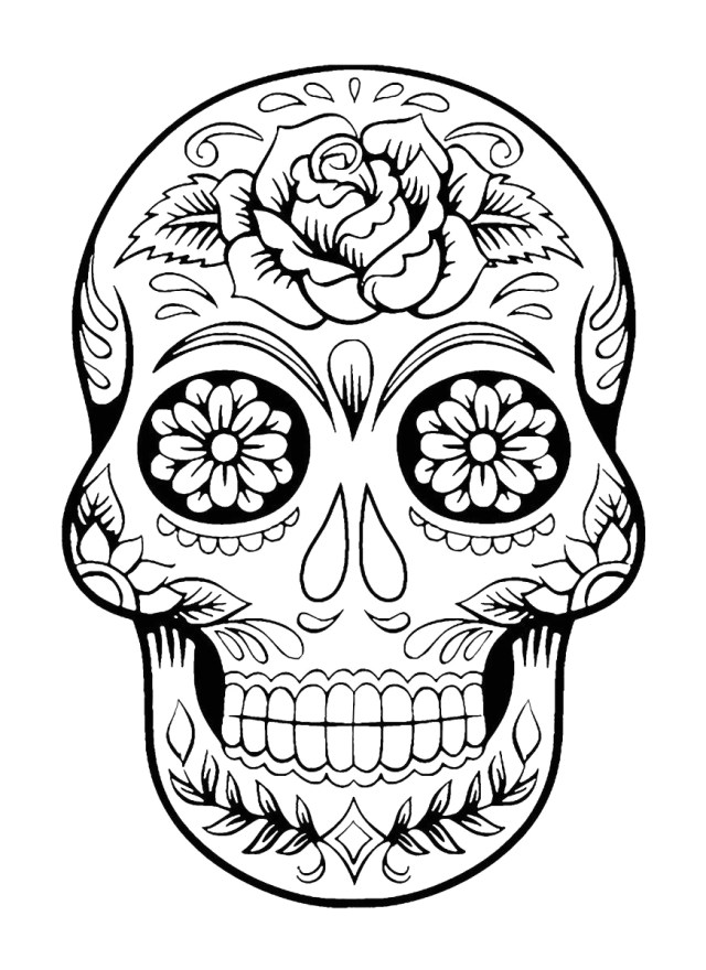 Day Of the Dead Coloring Pages Already Colored