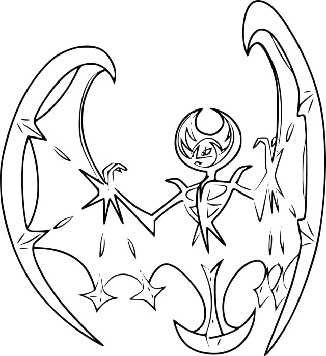 Legendary Sun and Moon Pokemon Coloring Pages