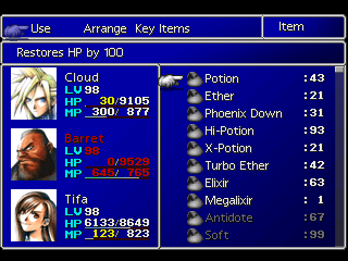 ffvii item list