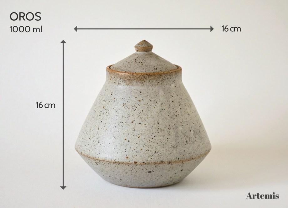 Artemis Oros urne naturel 1 liter