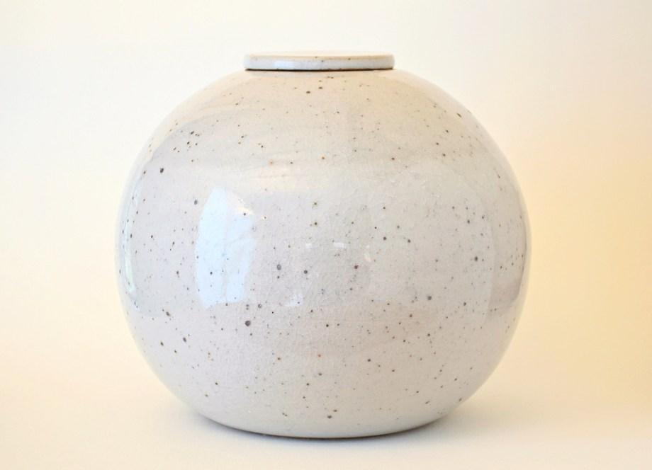 Artemis Diona urne wit craquelé 4,5 liter