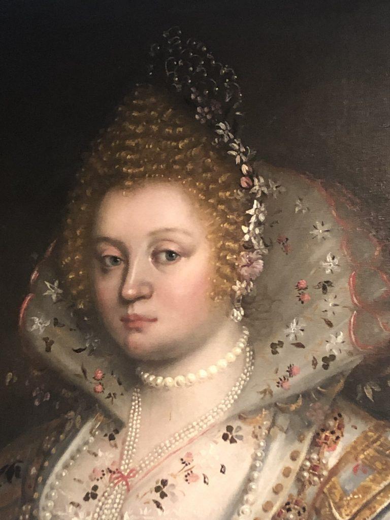 Chiara Varotari, Portrait einer Dame (Pantasilea Dotto Capodilista), ca. 1630, Museo Civico, Padua, Detail (Foto: NiS)