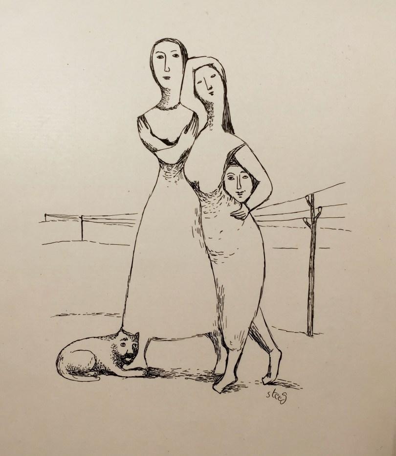 Elde Steeg / Elfriede Stegemeyer, O. T., um 1949 © Tiroler Landesmuseen