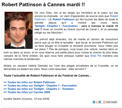 Robert à Cannes ?!